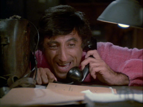 A sick Klinger on the phone