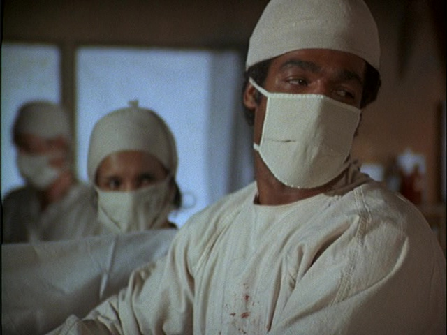 Still from the M*A*S*H episode Chief Surgeon Who? showing Timothy Brown