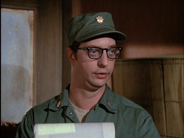 Still from the M*A*S*H episode Adam's Ribs showing Basil Hoffman