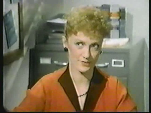 Still from the AfterMASH episode Together Again showing Brandis Kemp as Alma Cox