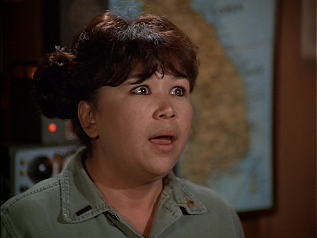 Kellye Nakahara in the M*A*S*H episode Hey, Look Me Over