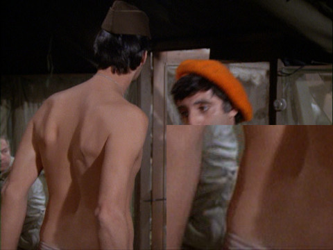 "Image from the M*A*S*H episode ""Dear Dad, Again"" showing Hawkeye."