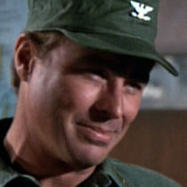 Image from the M*A*S*H episode Quo Vadis, Captian Chandler showing Colonel Flagg.